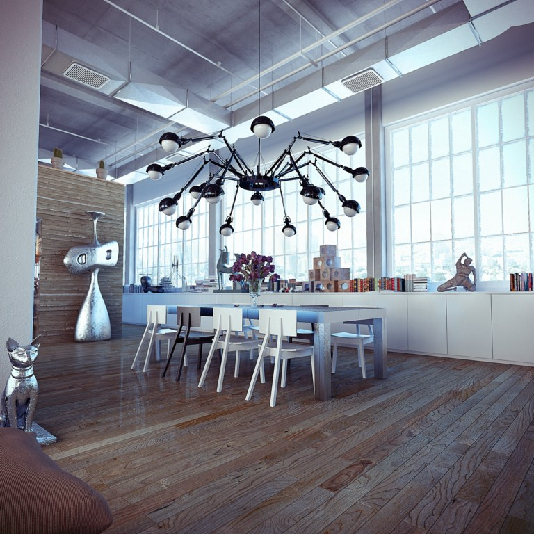 industrial6 Loft: Friendship Between Wood, Silver and Glass