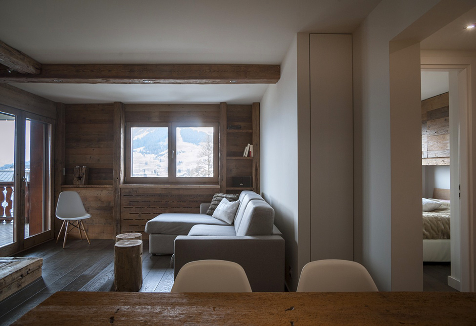 megeve apartment hqroom ru 3 Rustic Mountain Chalet Apartment