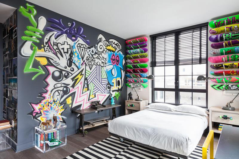 Teenagers Room 10 Ideas Of Decorating With Graffiti