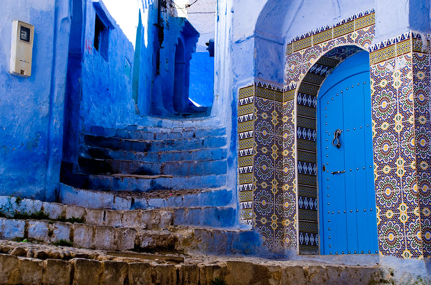 blue10 Blue, Even Green Old Town in Marocco