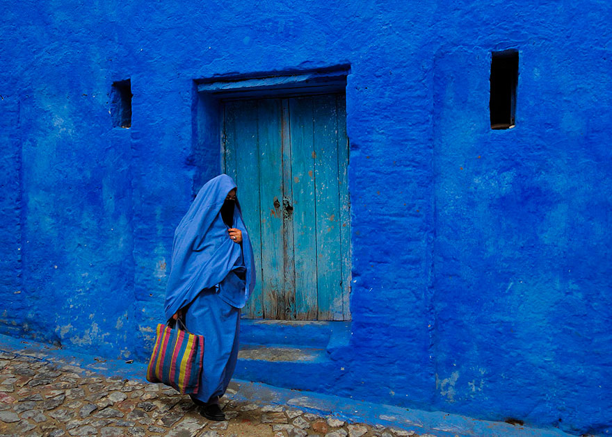 blue114.2 Blue, Even Green Old Town in Marocco