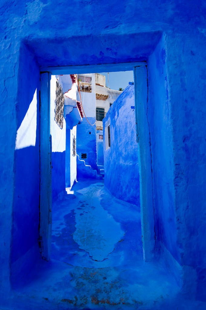 blue12 681x1024 Blue, Even Green Old Town in Marocco