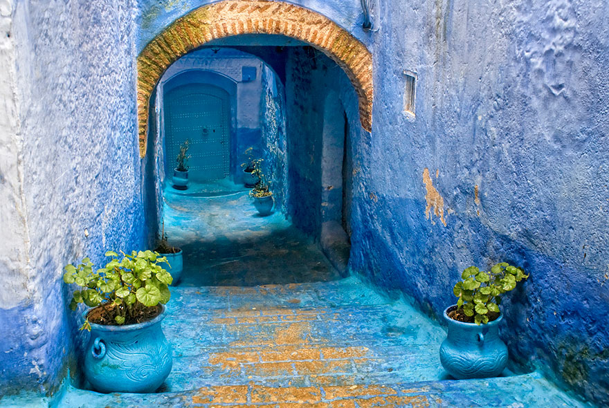 blue13 Blue, Even Green Old Town in Marocco