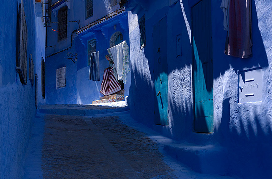 blue8 Blue, Even Green Old Town in Marocco