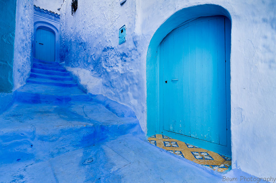 blue9 Blue, Even Green Old Town in Marocco