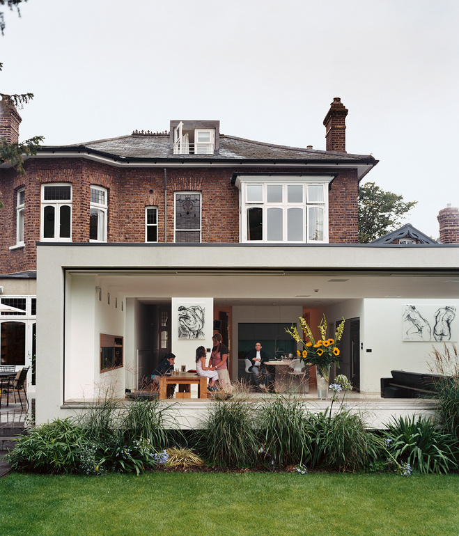 Modern Extension To A Victorian House