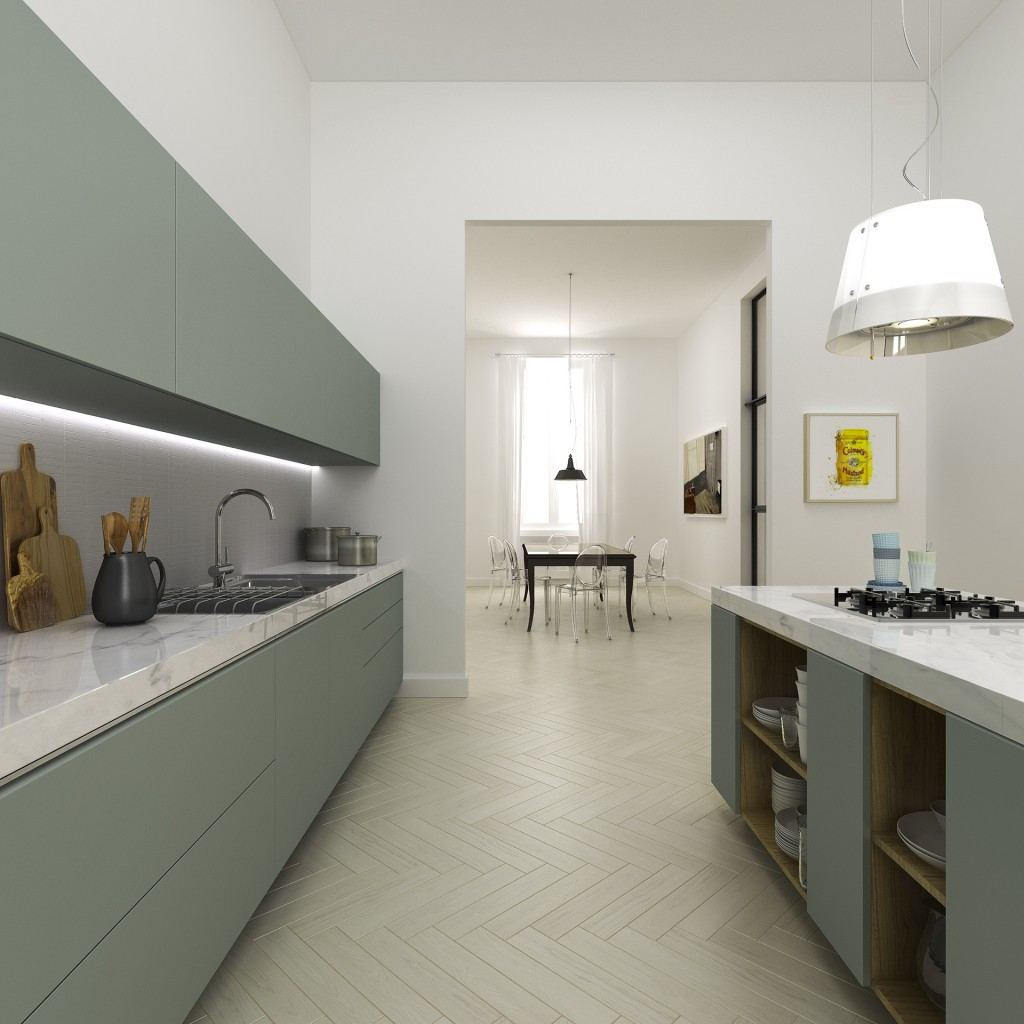 florence kitchen 1024x1024 Space Expansion Of Filippo Carandini