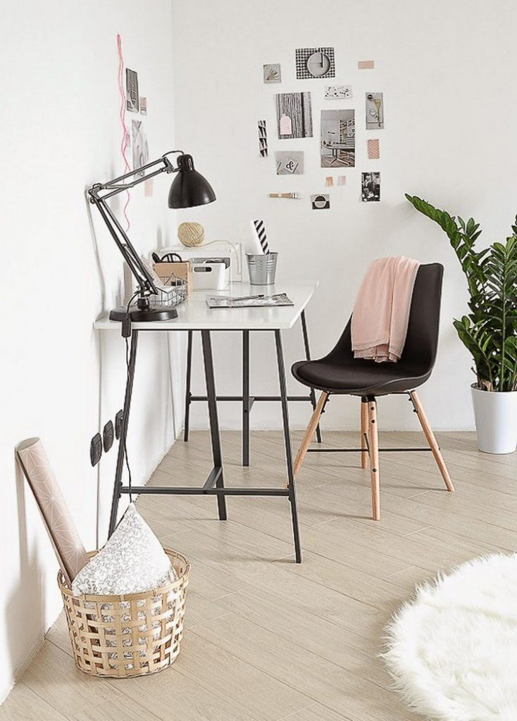 minimalist scandinavian table and chair 734x1024 Home Office: How To Create A Scandinavian Feeling