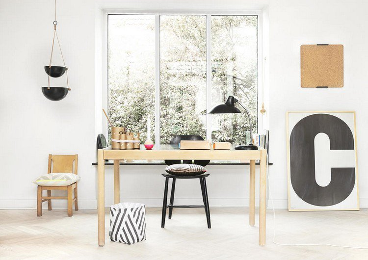 simple home workspace Home Office: How To Create A Scandinavian Feeling