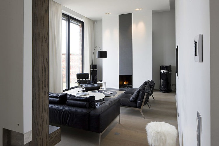006 modern home guillaume da silva Modern minimalism in France