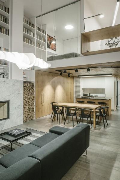 Modern Loft With Wooden Details