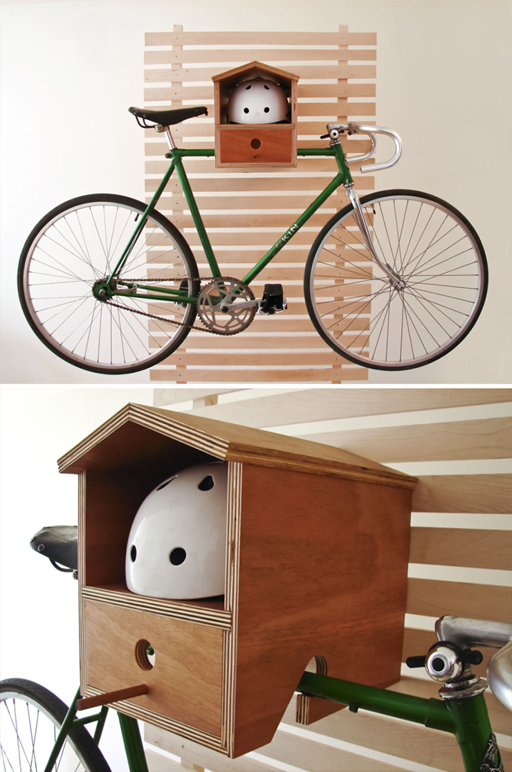 bird house helmet rack Bike Storage Ideas: 30 Creative Ways of Storing Bike Inside your Home