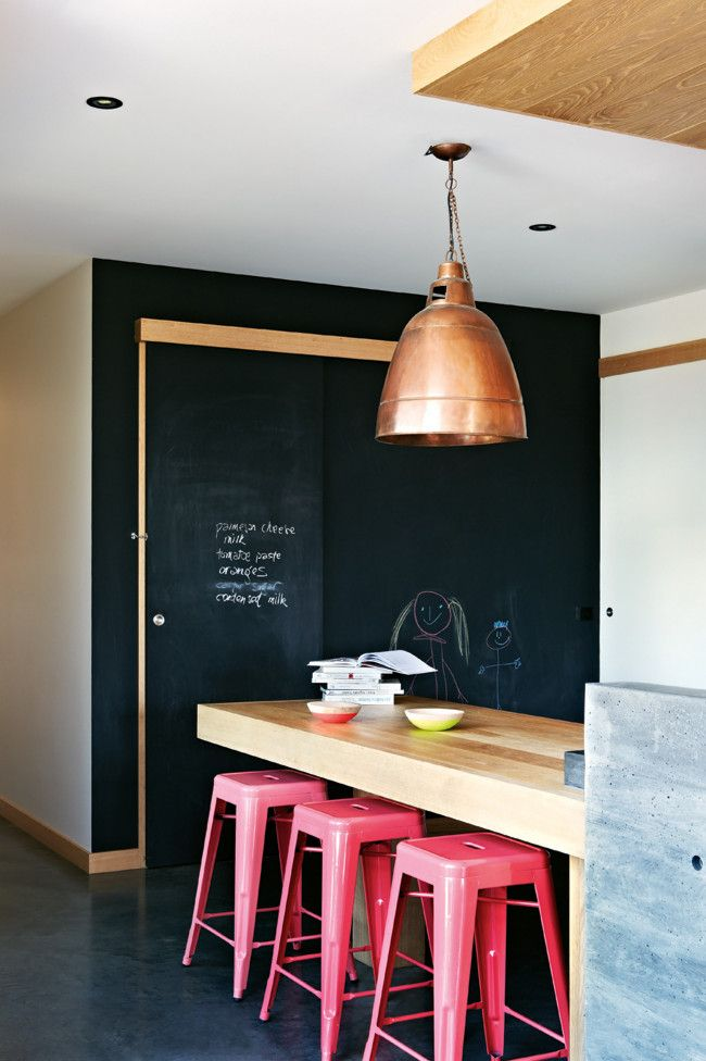 black chalkboard walls 32 Chalkboard Decor Ideas