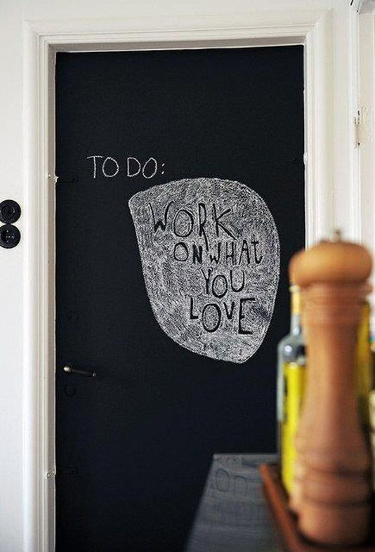 blackboard door 32 Chalkboard Decor Ideas