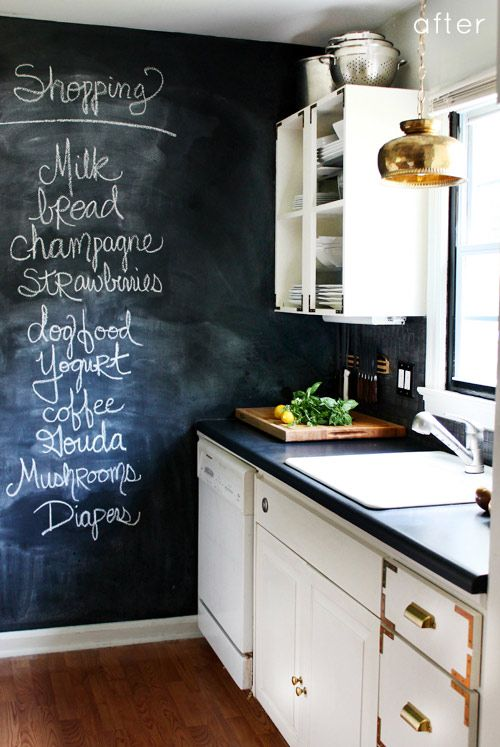 blackboard in kitchen 32 Chalkboard Decor Ideas