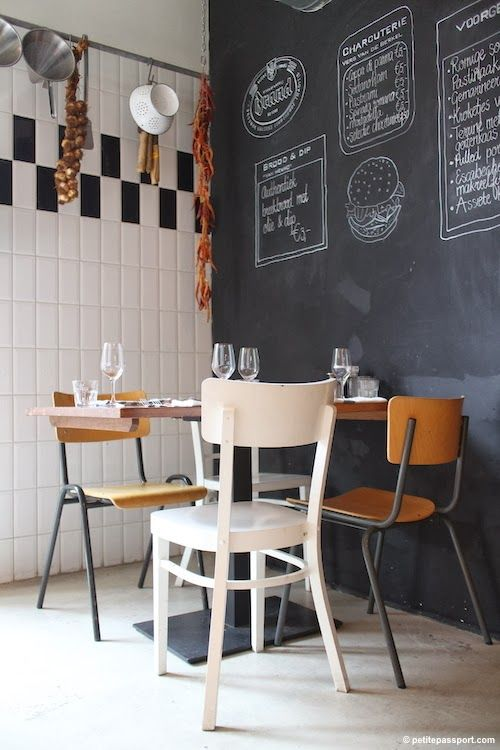 blackboard restaurant 32 Chalkboard Decor Ideas