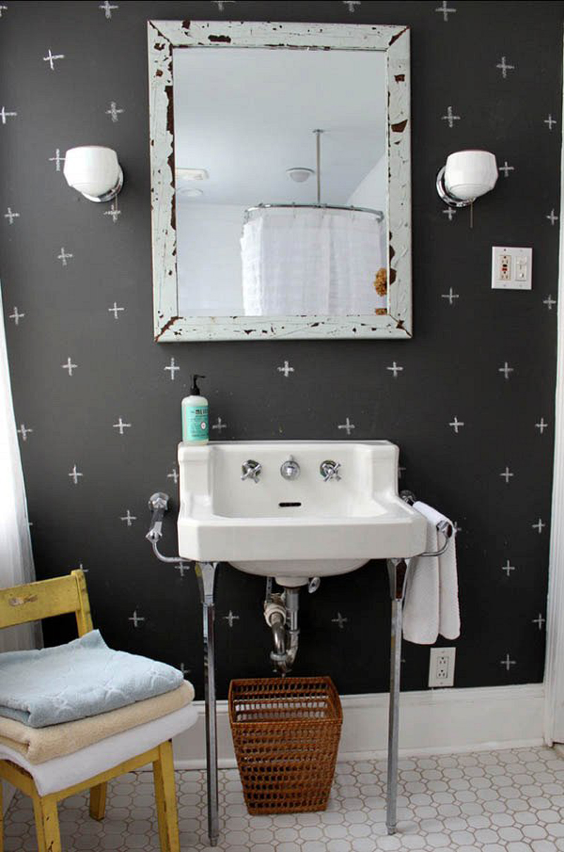 chalkboard bathroom 32 Chalkboard Decor Ideas