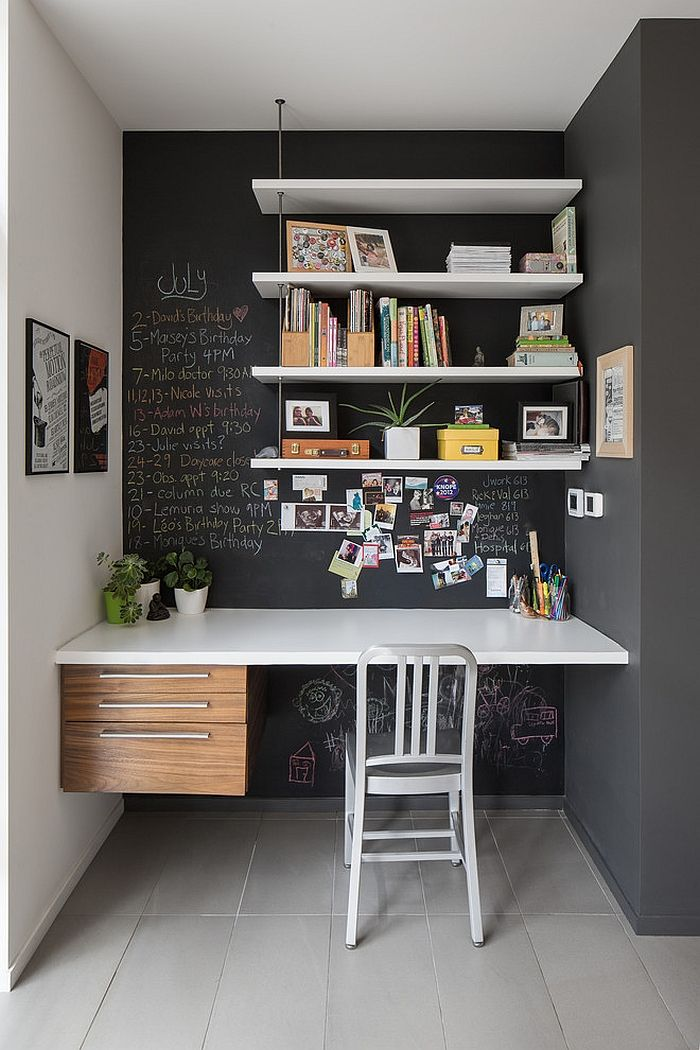 chalkboard corner 32 Chalkboard Decor Ideas