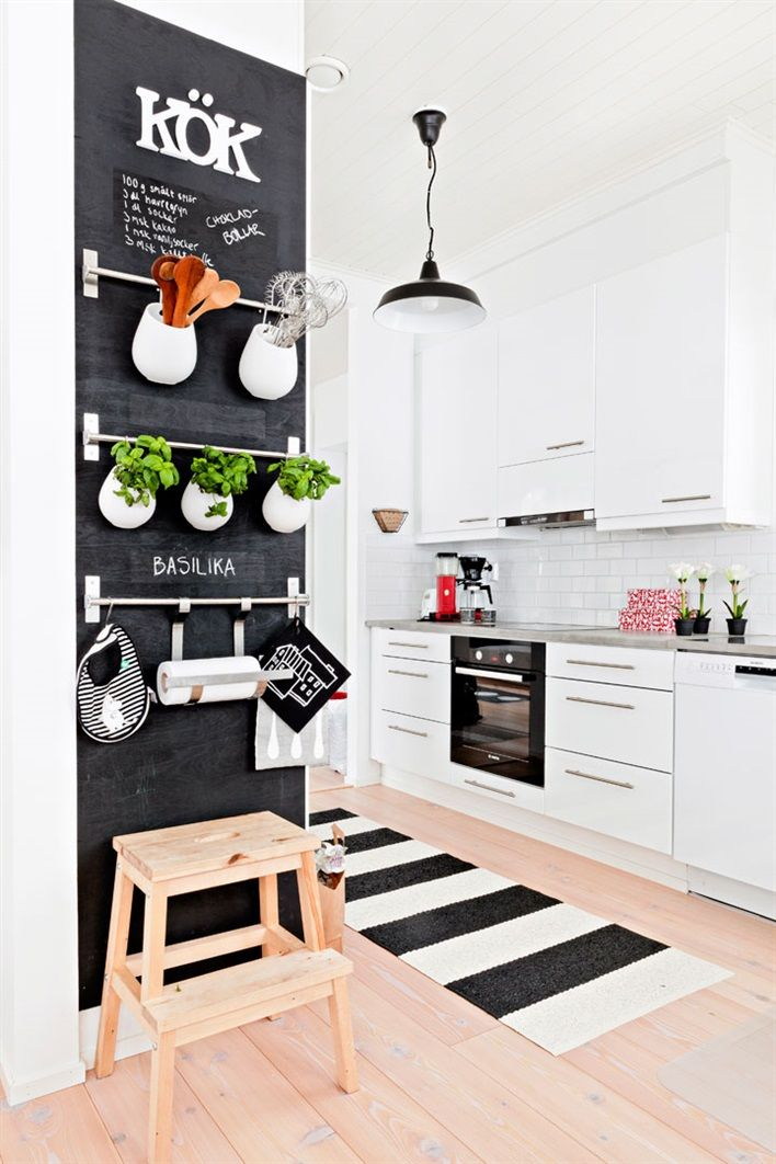 chalkboard growth wall 32 Chalkboard Decor Ideas