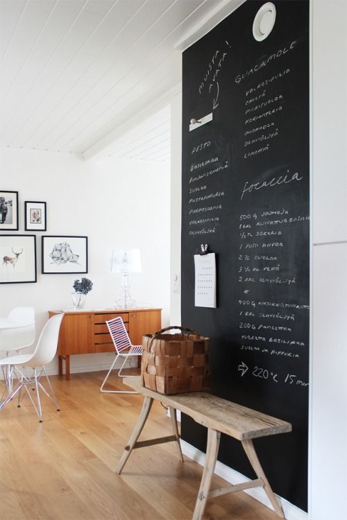 chalkboard wall 32 Chalkboard Decor Ideas