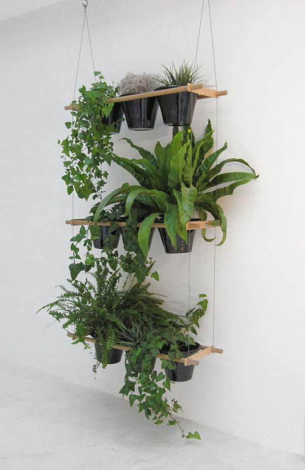 hanging vertical garden 25 Indoor Garden Ideas