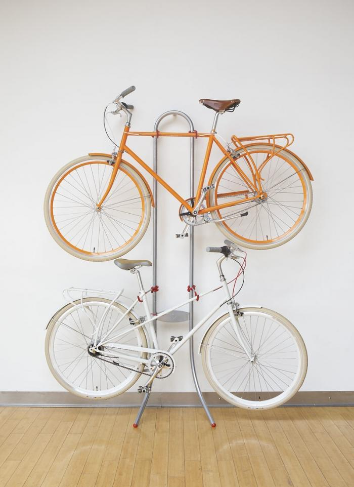 michelangelo two bike gravity stand  Bike Storage Ideas: 30 Creative Ways of Storing Bike Inside your Home