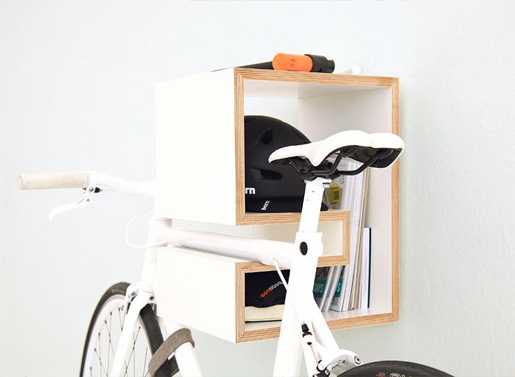 mikili white rack Bike Storage Ideas: 30 Creative Ways of Storing Bike Inside your Home