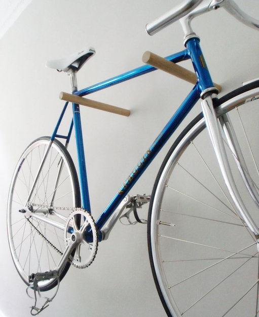 simple wooden rack Bike Storage Ideas: 30 Creative Ways of Storing Bike Inside your Home