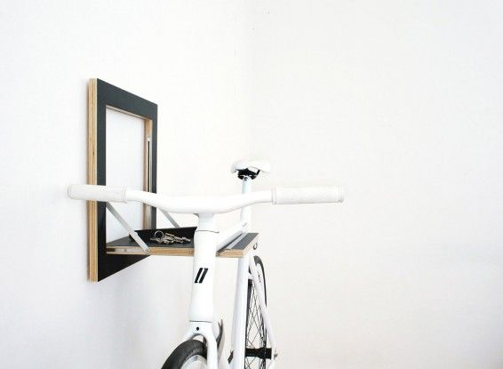 slit black retractable shelf for bicycle storage Bike Storage Ideas: 30 Creative Ways of Storing Bike Inside your Home