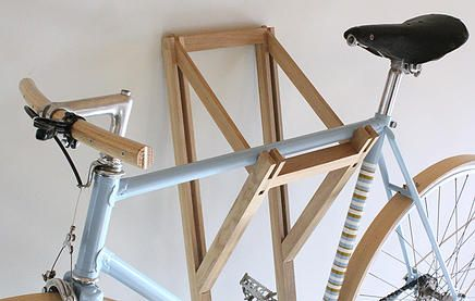 wooden bike hanger Bike Storage Ideas: 30 Creative Ways of Storing Bike Inside your Home