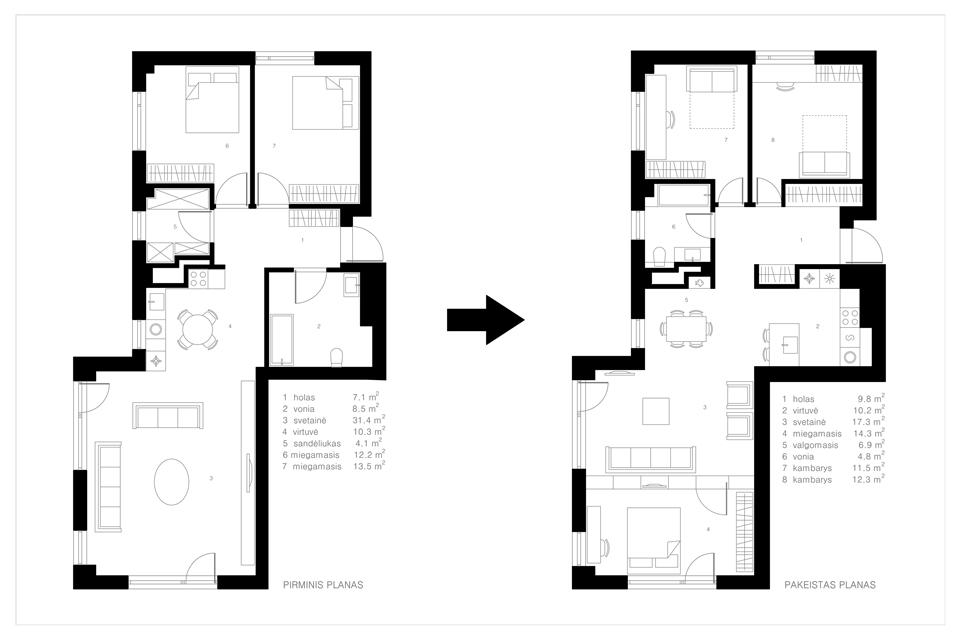 karaliauciaus 12 Apartment in Vilnius by Normundas