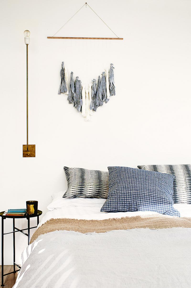 bedroom natural linen wall light beach 20150211144910q75dx800y u1r1g0 Warm and Lively Australian Home