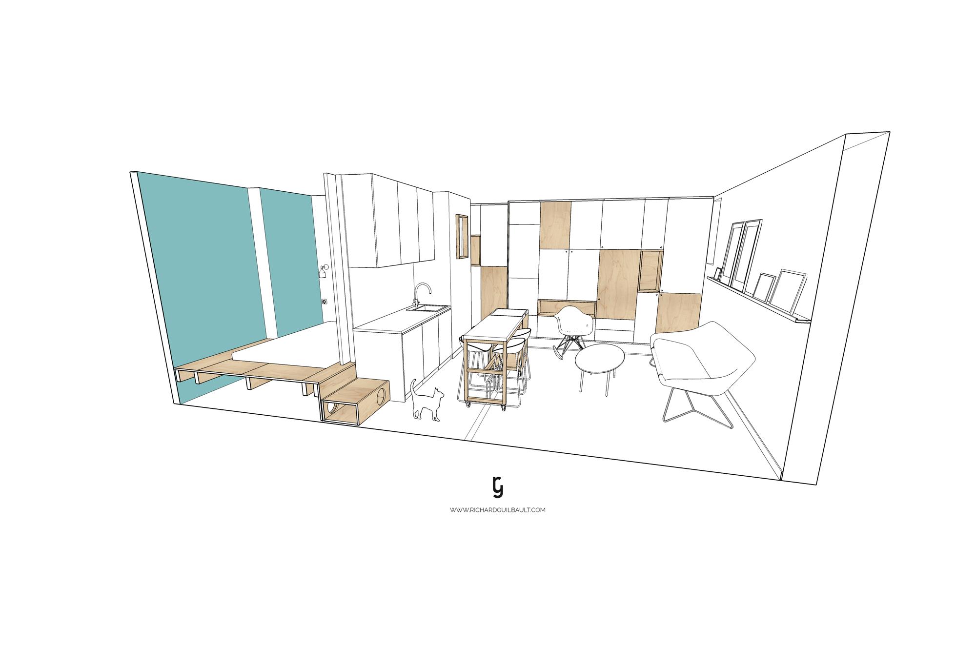 30m2 apartment in paris 10 30m2 Apartment in Paris