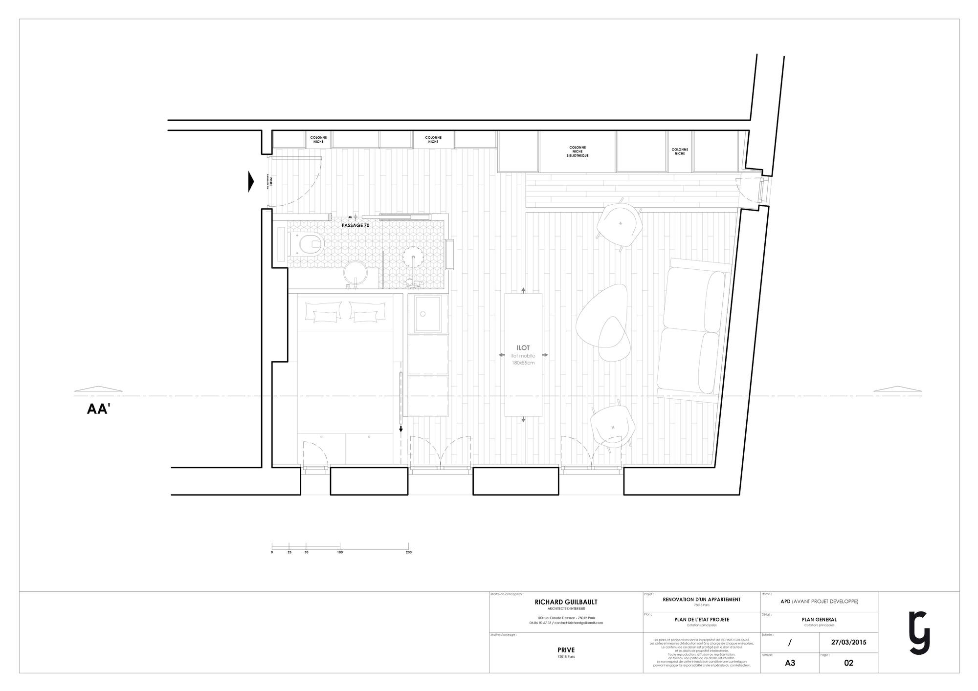 30m2 apartment in paris 11 30m2 Apartment in Paris