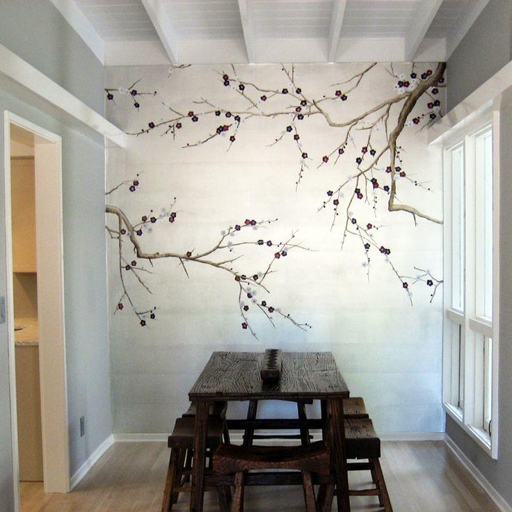 37b67b91a99a42acdb0a86dcf0c9e375 50+ Floral Wallpaper and Mural Ideas