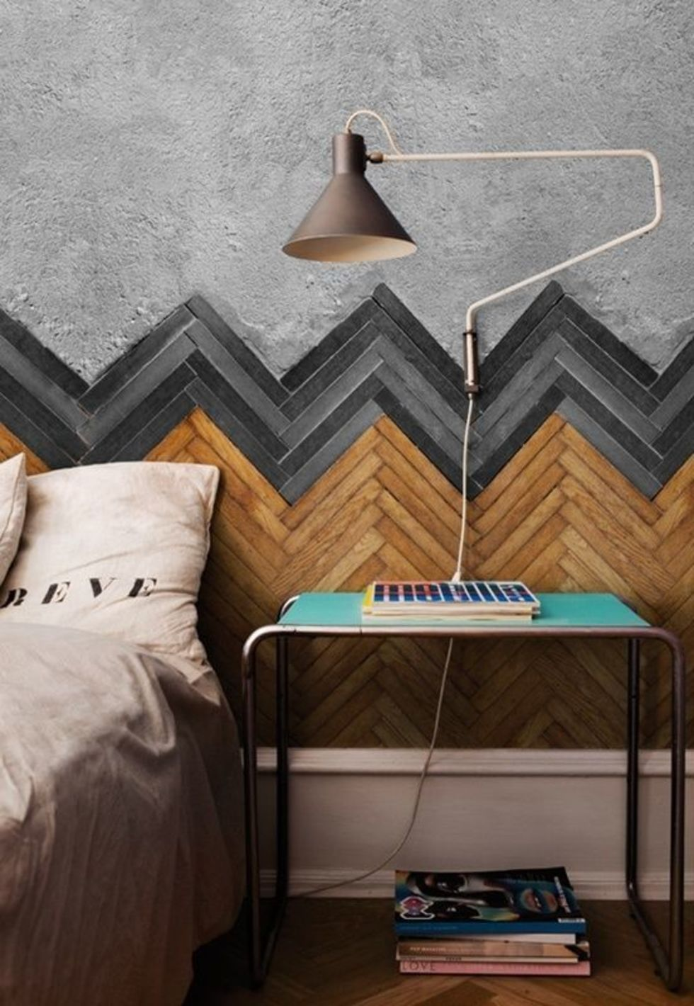 chevron walls in bedroom 50 Awesome Bedroom Ideas