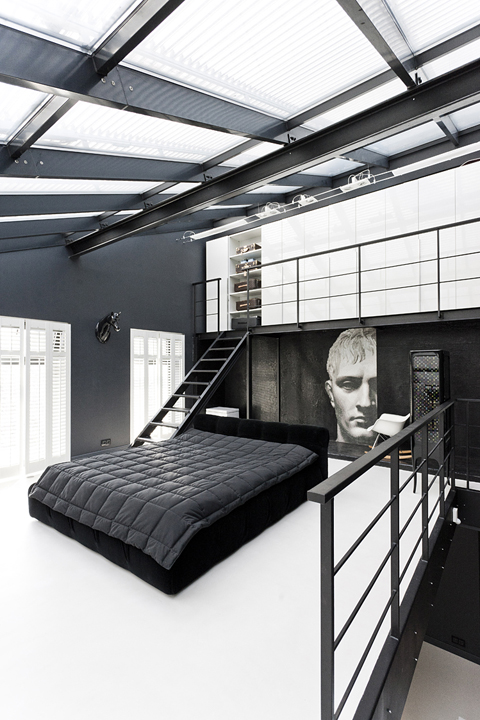 lofty moody bedroom  50 Awesome Bedroom Ideas