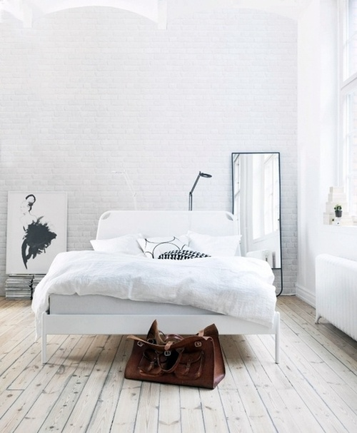 white brick wall bedroom Amazing Modern Bedroom Ideas