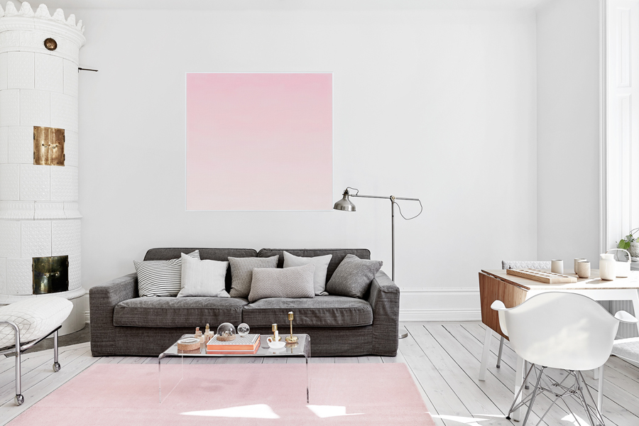 white apartment 15 White and Pink Apartment