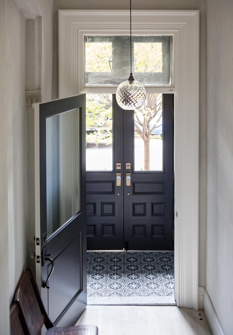 foyer vestibule 2 Moody Navy in a Brooklyn Townhouse