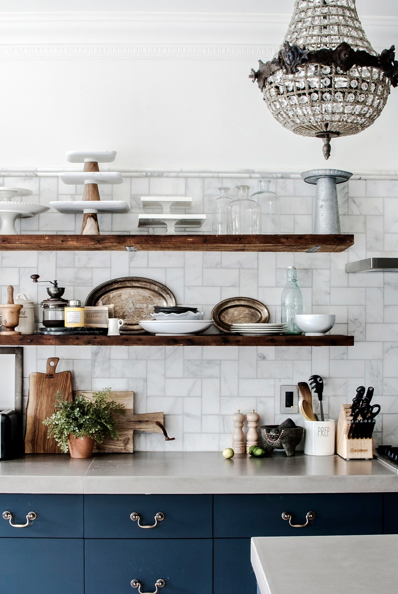 kitchen melissa lee Moody Navy in a Brooklyn Townhouse