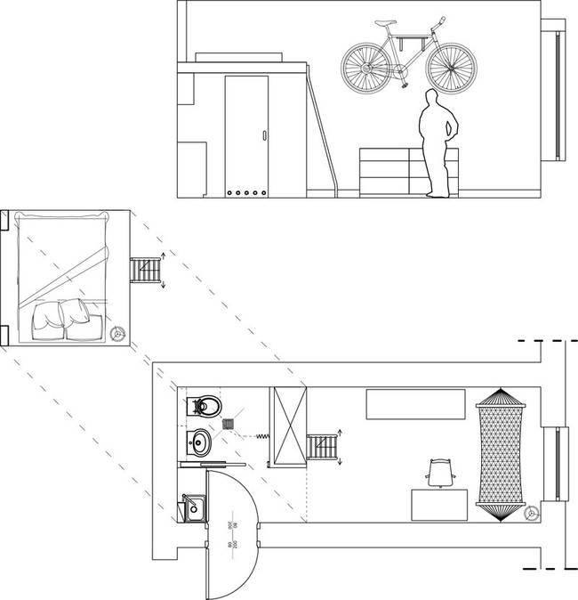 tiny minimalist apartment 5 13m2 Tiny Apartment In Wroclaw
