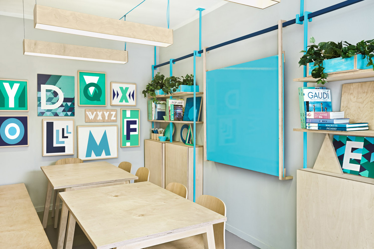 colorful english school in barcelona by masquespacio 8 Colorful English School In Barcelona by Masquespacio
