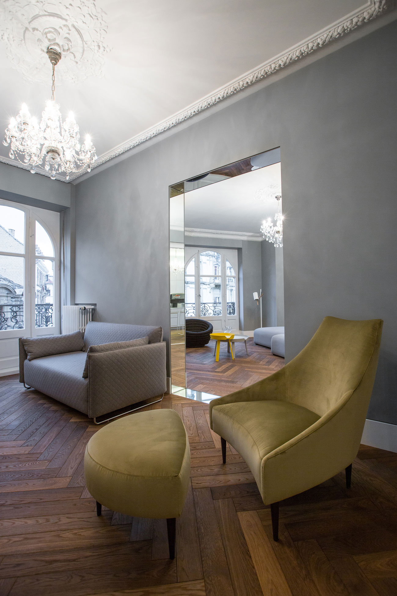 colorful furniture added to apartment in strasbourg by ycl studio 13 Colorful Furniture Added To Apartment In Strasbourg By YCL Studio
