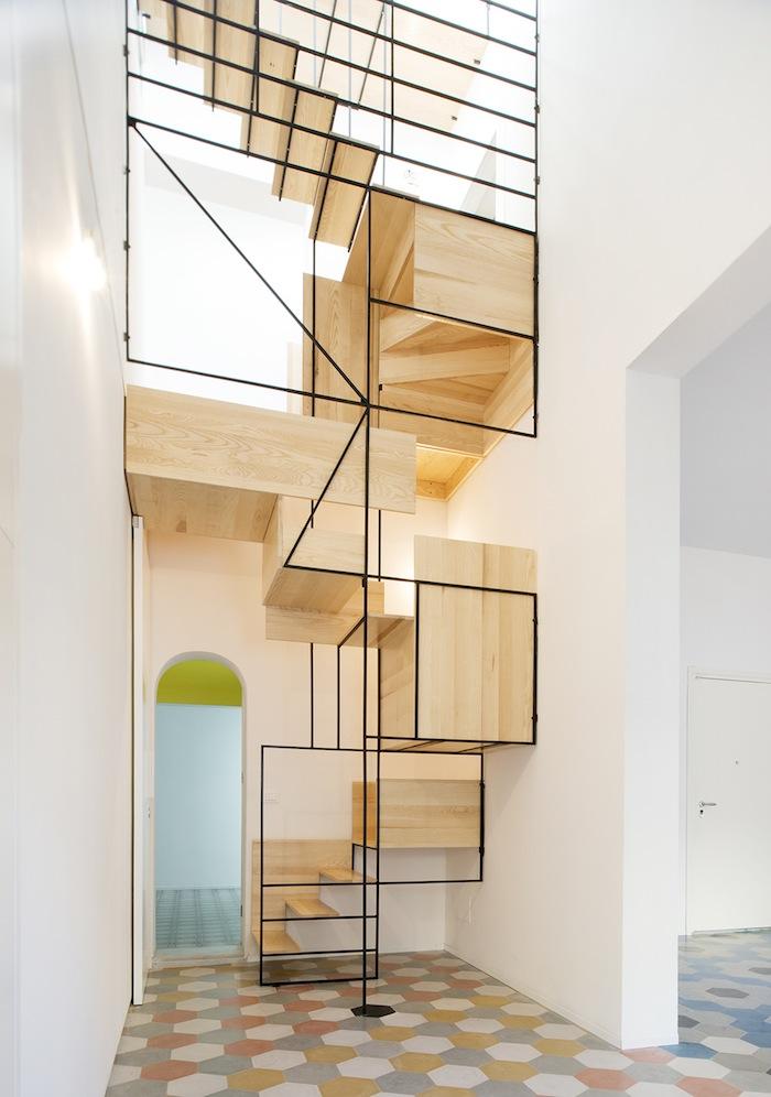 Geometric Staircase Designed By Francesco Librizzi