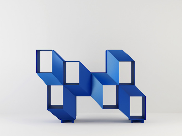 charles kalpakian designed a shelf that looks like an optical illusion 2 Charles Kalpakian Designed A Shelf That Looks Like An Optical Illusion