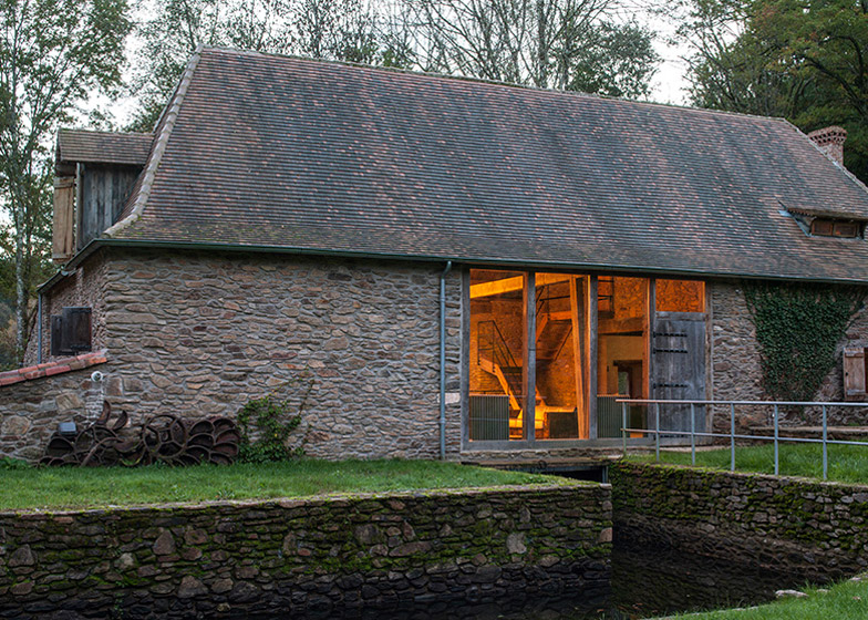 Former Mill Buildings Converted Into Holiday Residence In France