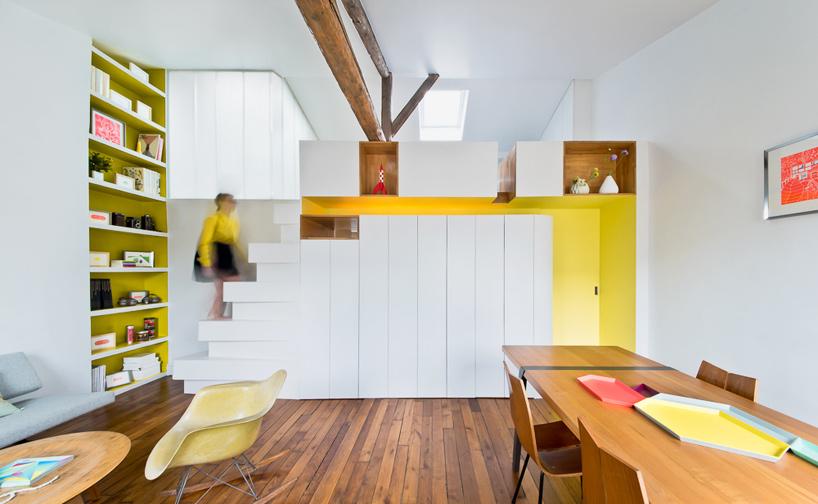 parisian apartment of a young fashion designer 1 Vertical Garden Grows In This Parisian Apartment Of A Young Fashion Designer