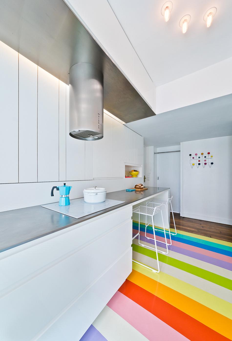 parisian apartment of a young fashion designer 14 Vertical Garden Grows In This Parisian Apartment Of A Young Fashion Designer