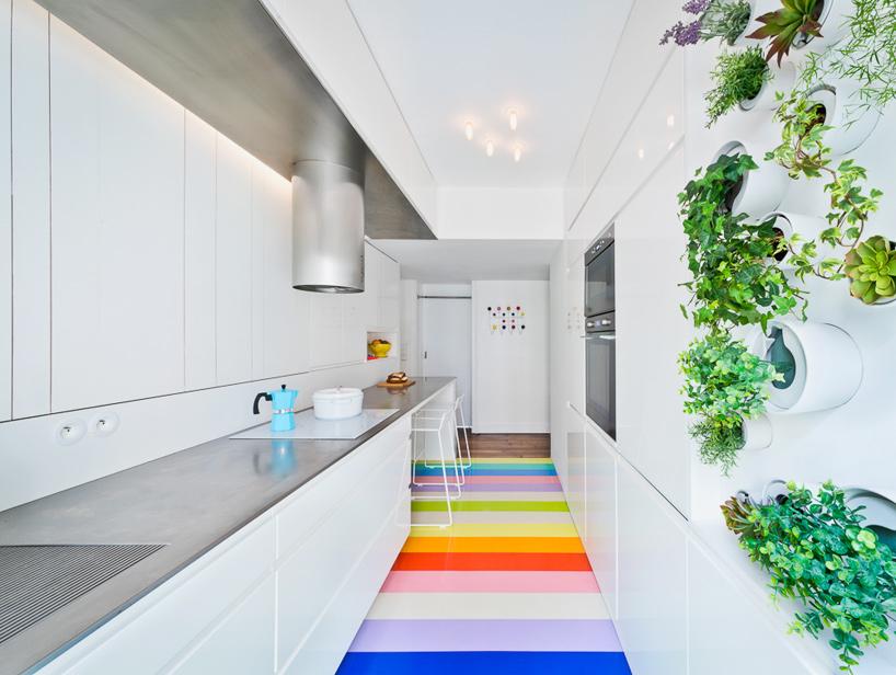 parisian apartment of a young fashion designer 5 Vertical Garden Grows In This Parisian Apartment Of A Young Fashion Designer